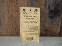 Write Your Own Trap Tags - 25ct